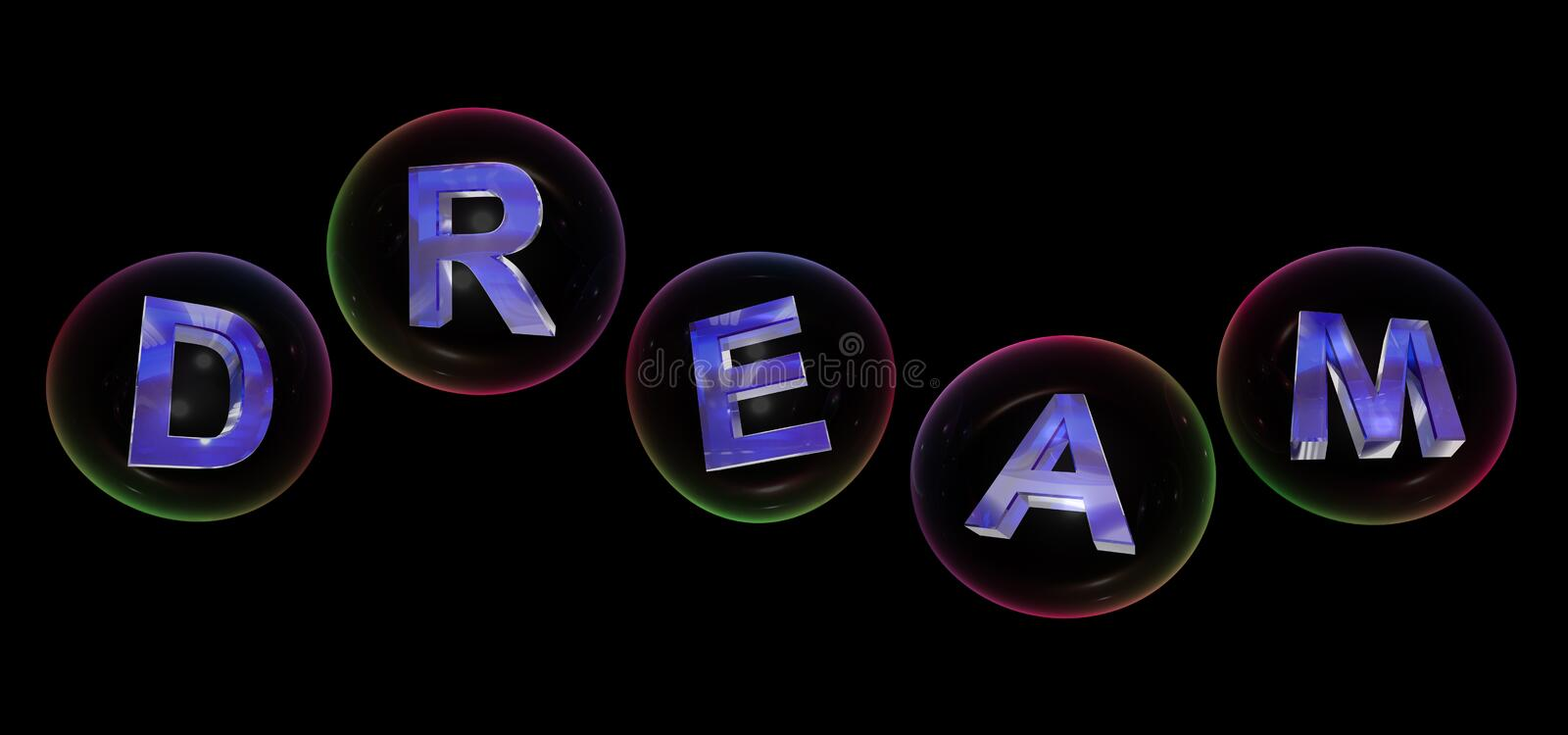 The dream word in bubble royalty free illustration