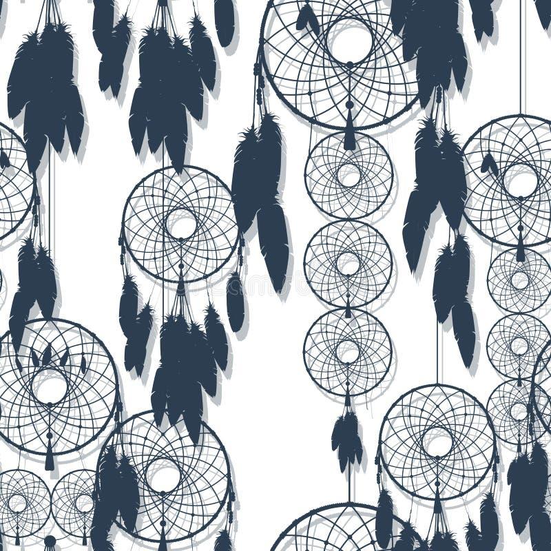 Dreamcatcher άνευ ραφής απεικόνιση αποθεμάτων