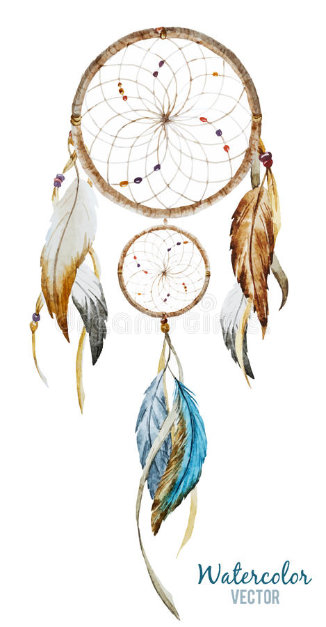 Dreamcatcher illustration stock