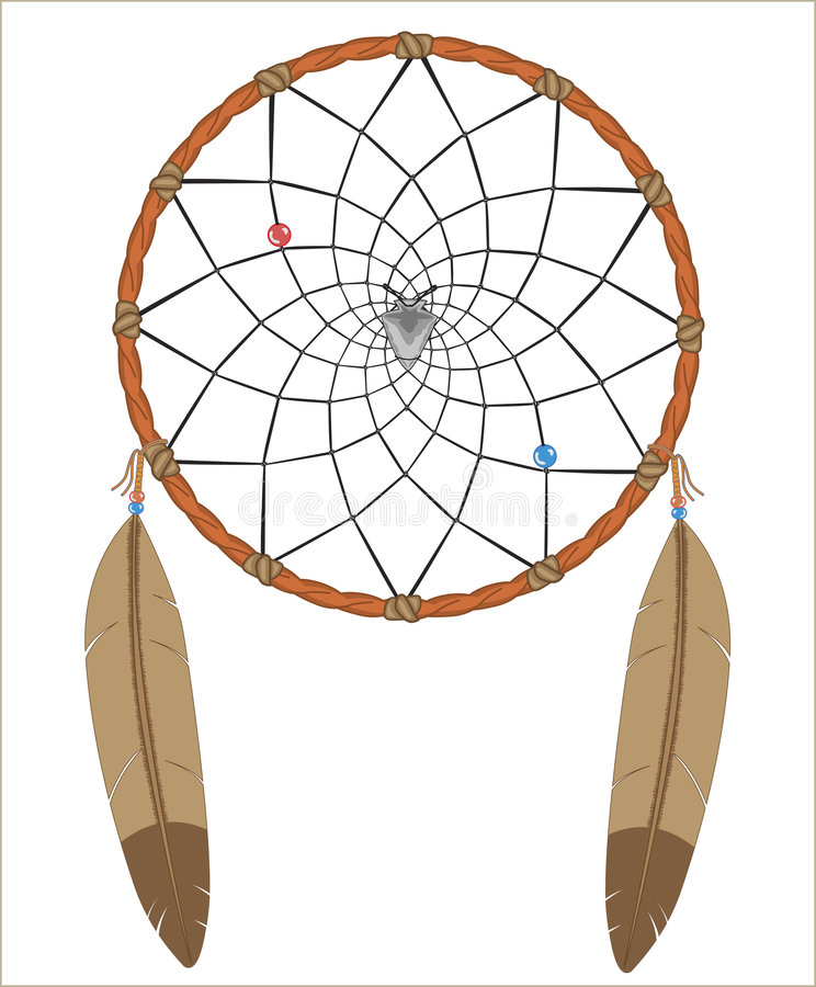 Download Dreamcatcher stock vector. Illustration of american, feathers - 6260792
