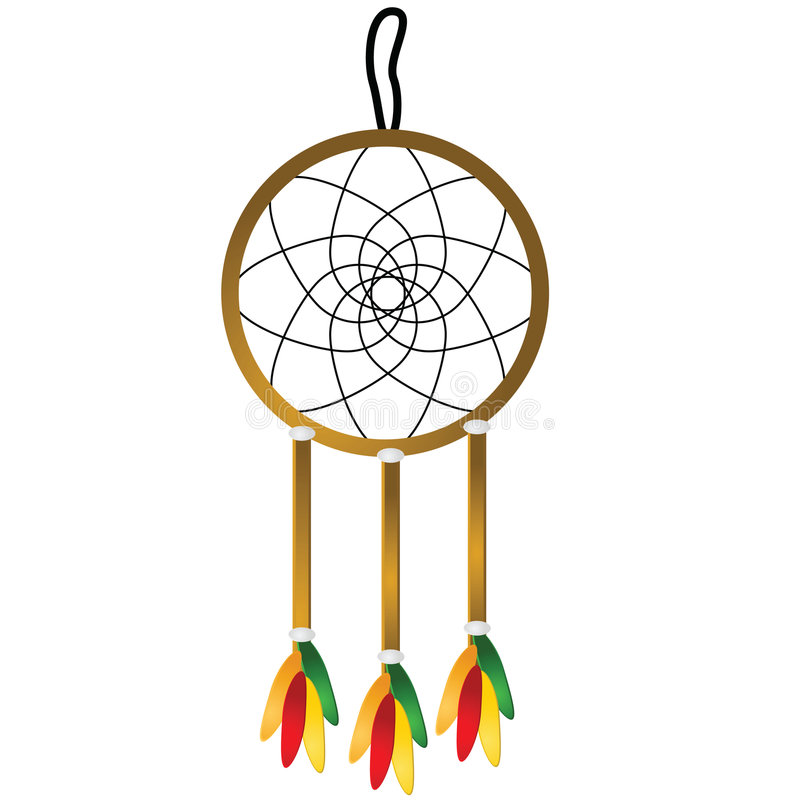 dreamcatcher vektor illustrationer