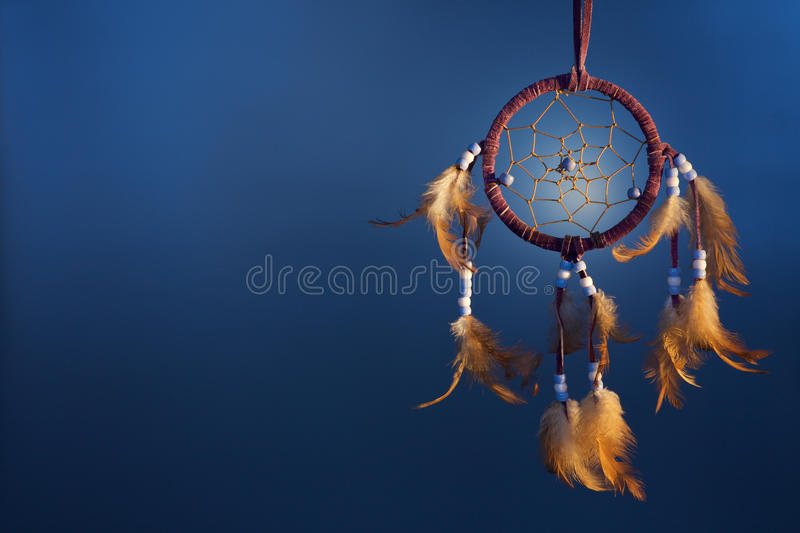 Dreamcatcher on a color background royalty free stock image