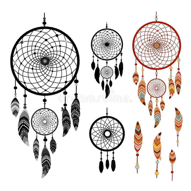 Dreamcatcher colorful logo stock vector illustration of for Dream catcher graphic