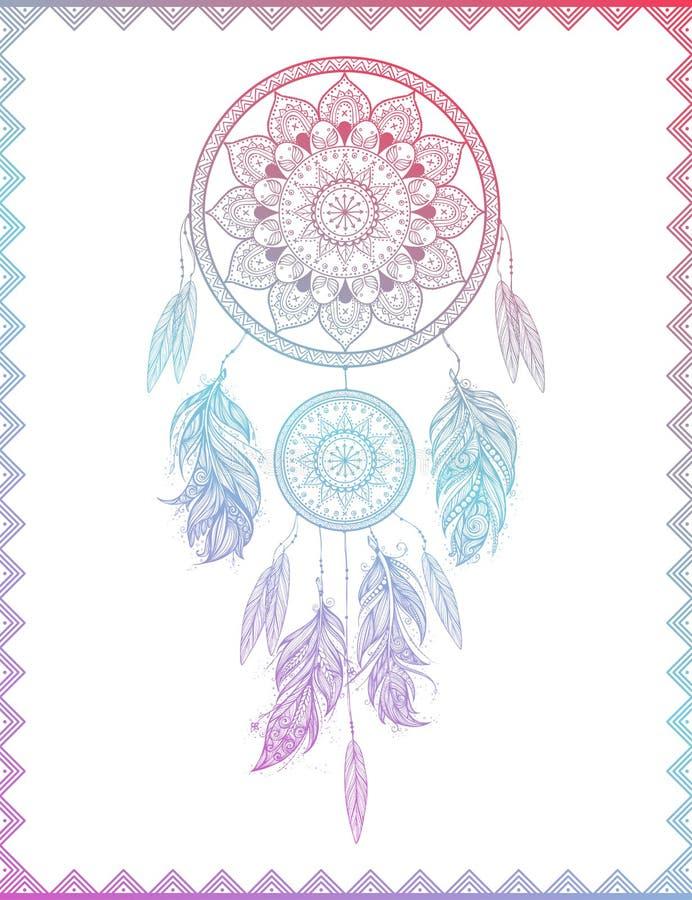 Dreamcatcher dans le gradient, illustration de vecteur illustration libre de droits