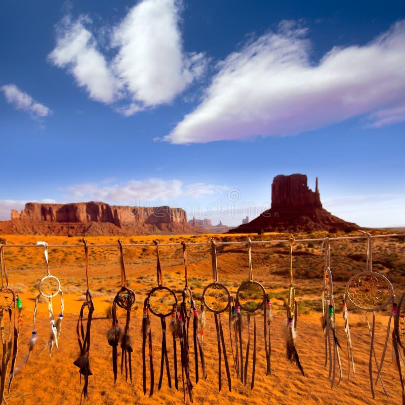 Dreamcatcher do montículo ocidental do mitene do monumento do Navajo fotos de stock royalty free