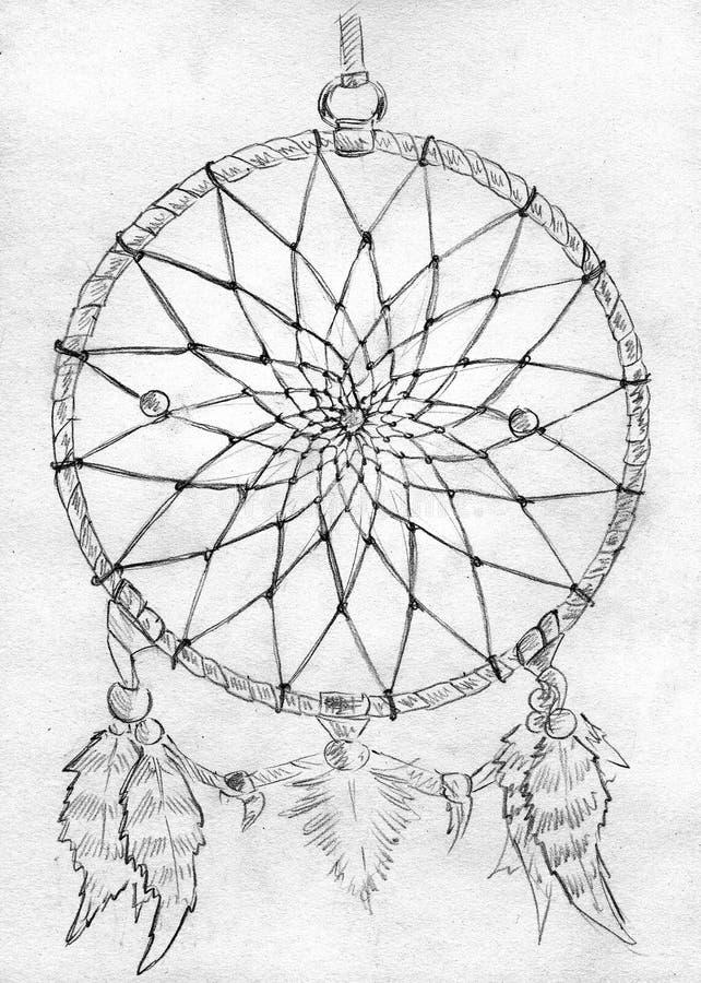 Dreamcatcher - esboço ilustração stock
