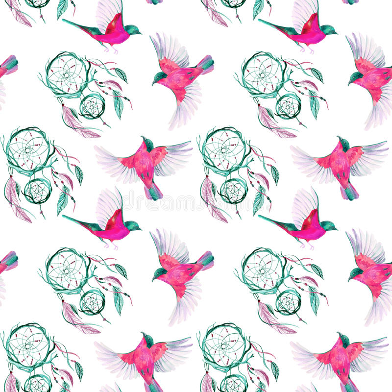 Dreamcatcher ethnique d'aquarelle illustration de vecteur