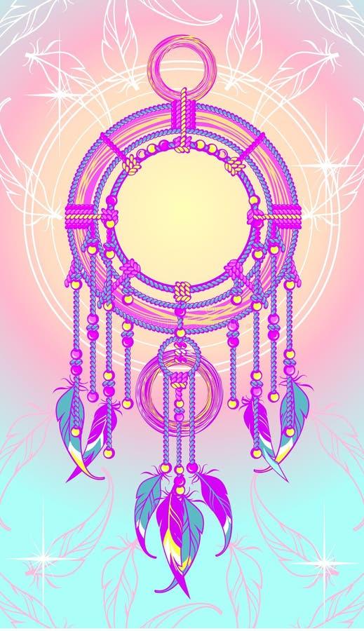 Dreamcatcher etnico illustrazione vettoriale