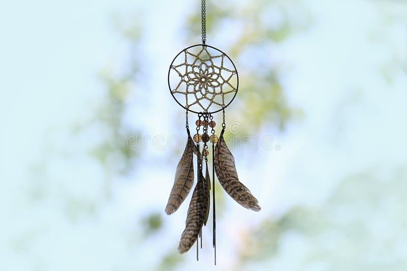 Dreamcatcher i natur arkivfoton