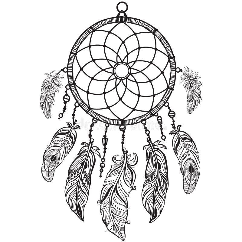 Dreamcatcher indien indigène de talisman illustration libre de droits