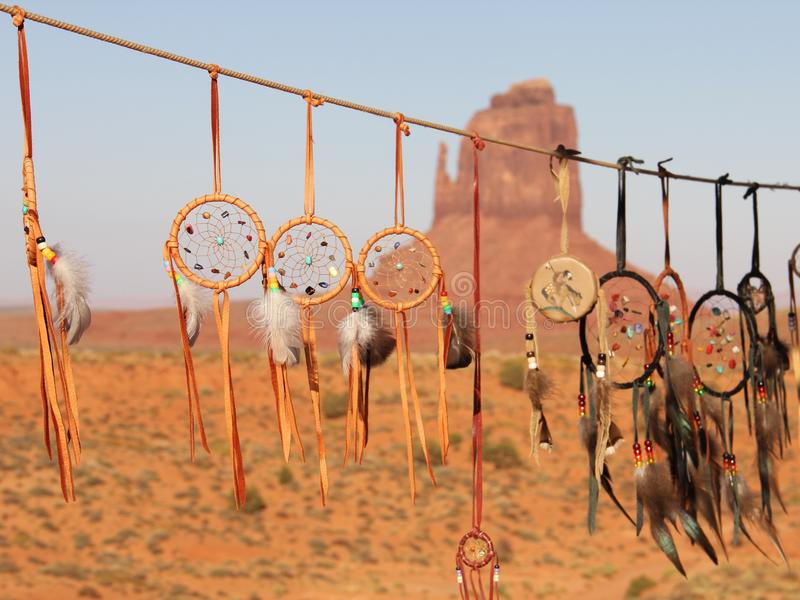 Dreamcatcher Monument Valley. Dreamcatchers seen in Monument Valley created by Navajos royalty free stock photography