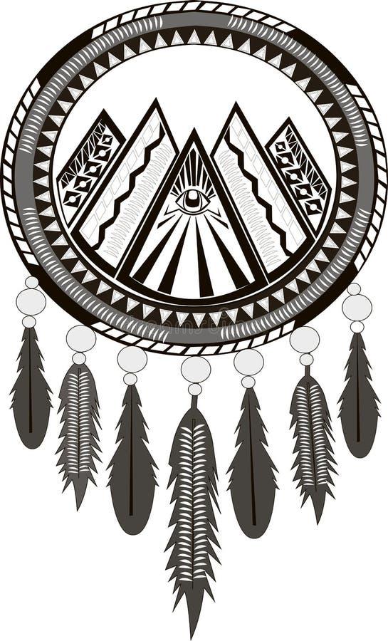 Dreamcatcher preto e branco e cores do cinza 5 imagens de stock