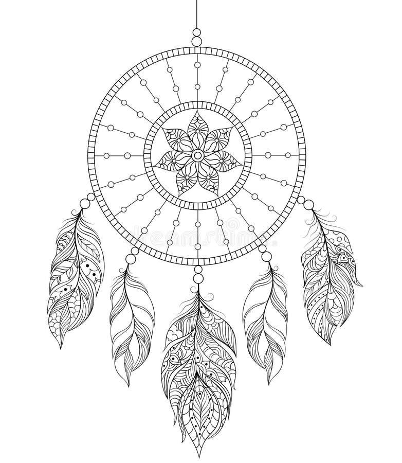 Dreamcatcher sur le fond blanc illustration stock