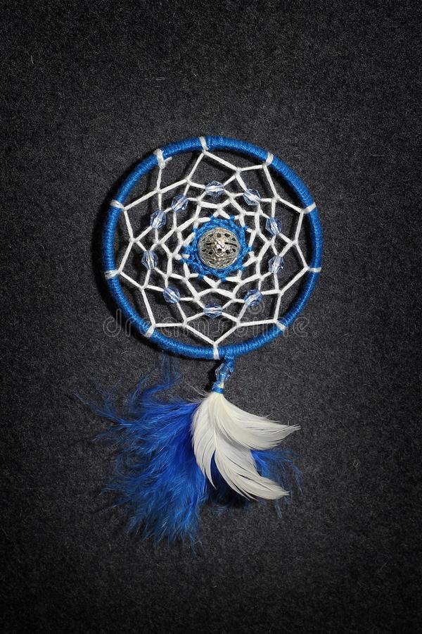 Dreamcatcher sur le fond gris photo libre de droits