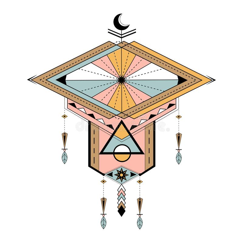 Dreamcatcher utformade vektorer på bakgrund royaltyfri illustrationer