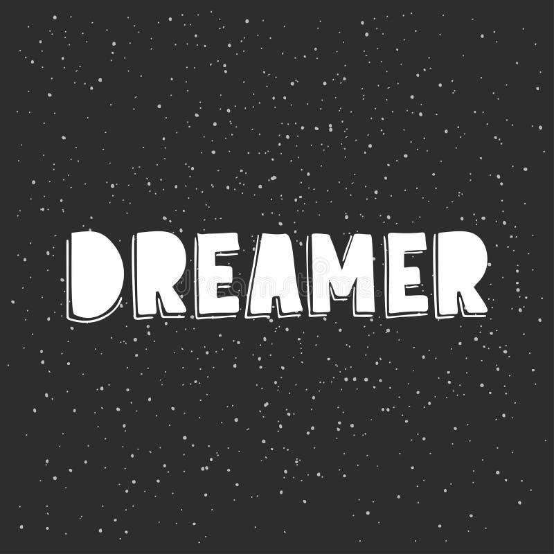 dreamer ilustração royalty free