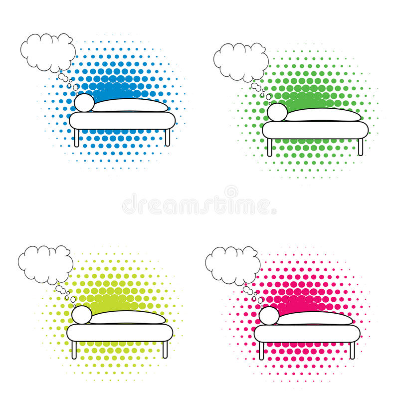 Download Dreaming stock illustration. Image of dreaming, yellow - 14022555