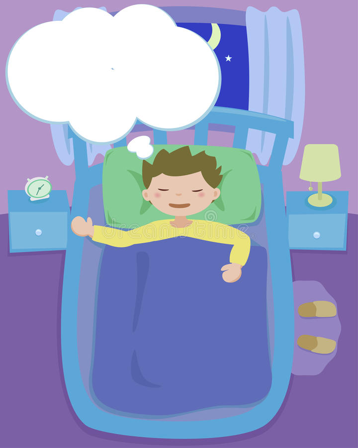 Download Dreaming stock vector. Image of comic, bedlight, children - 16604443