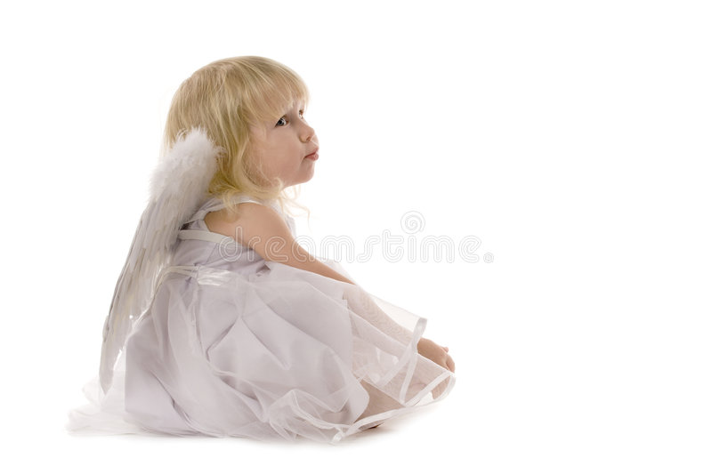 Dreaming angel stock photo