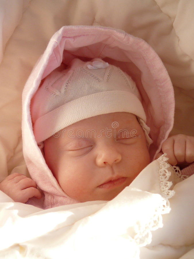 Dreaming baby vertic royalty free stock images