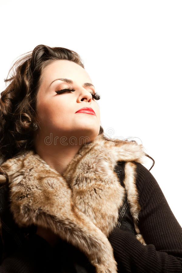 Download Dreaming Beauty stock image. Image of glamour, long, isolated - 24165593