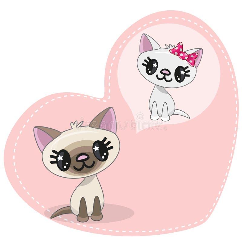 Dreaming Cat. Greeting card Cute Dreaming Cat stock illustration