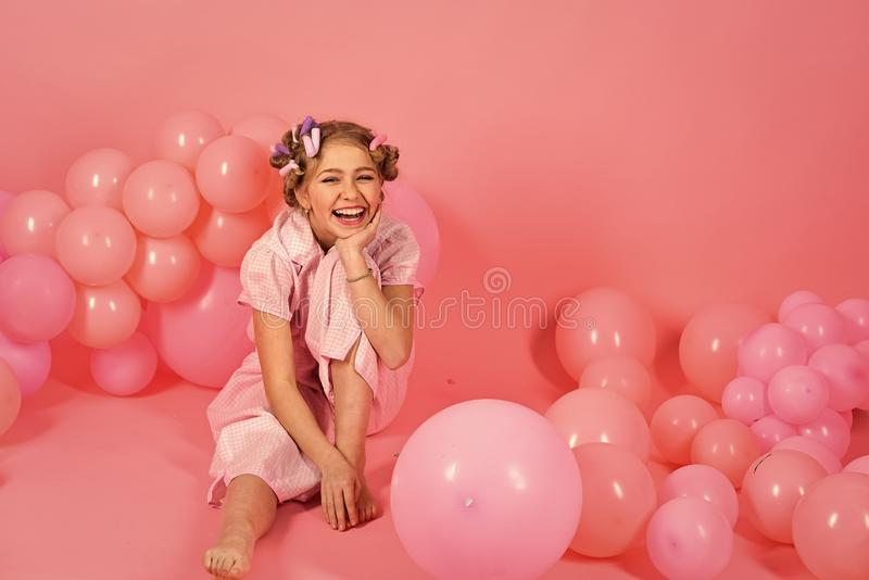 Dreaming and childhood happiness. royalty free stock photos
