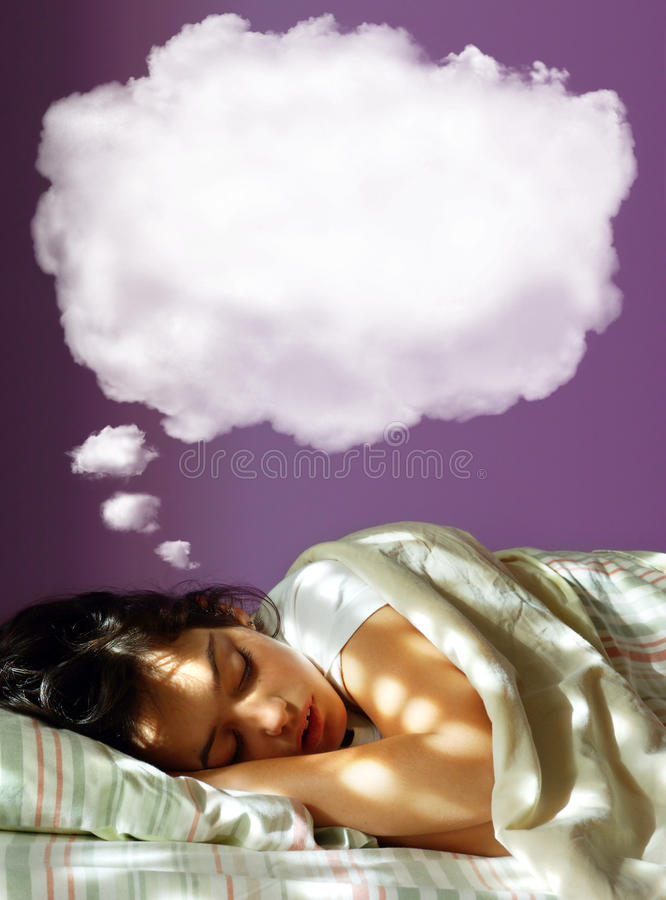 Download Dreaming Girl stock image. Image of laying, beauty, lying - 14856243