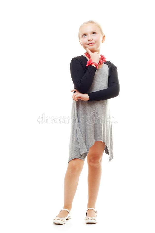 Download The dreaming girl stock image. Image of expression, looking - 21903905