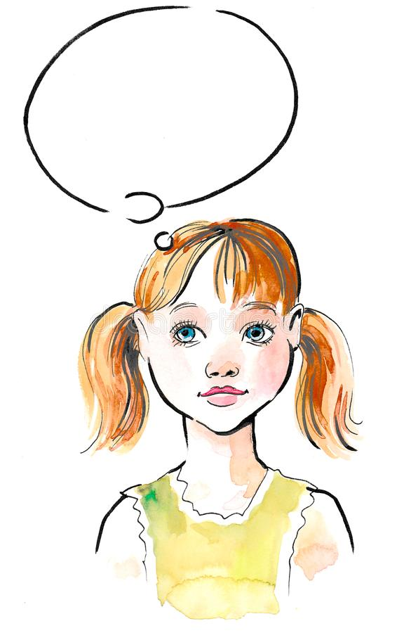 Dreaming girl royalty free illustration
