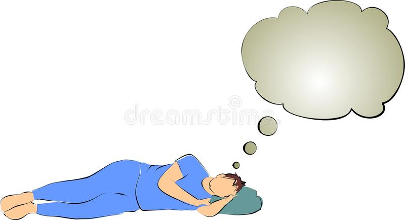 Dreaming. Of good night's sleep royalty free illustration