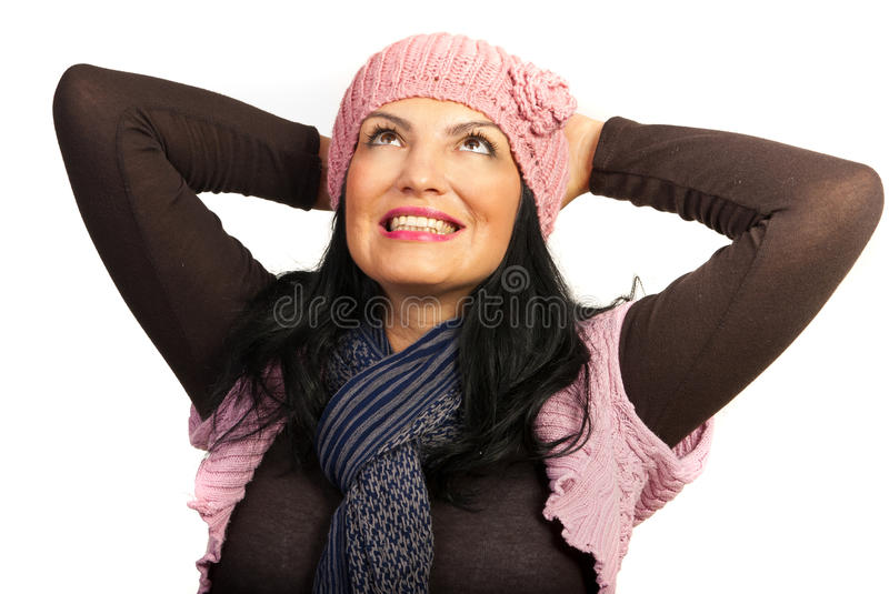 Download Dreaming Happy Winter Woman Stock Photography - Image: 27633822