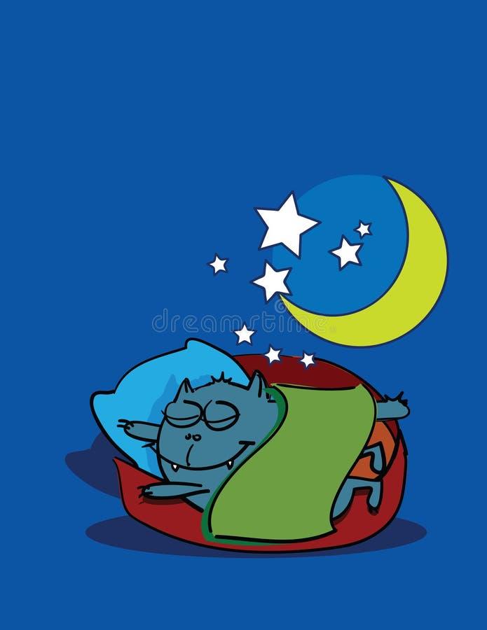 Dreaming kitten. Abstract vector art illustration vector illustration