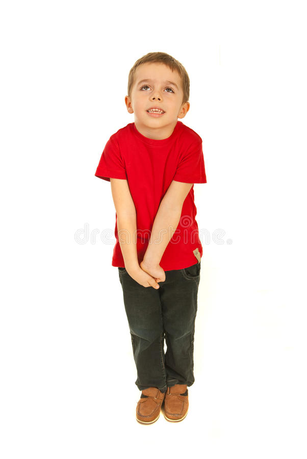 Download Dreaming little boy stock photo. Image of full, casual - 23567586