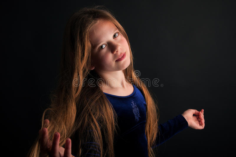 Download Dreaming Little Girl Royalty Free Stock Photos - Image: 19406458