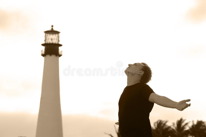 Download Dreaming man stock photo. Image of lighthouse, place - 12401402