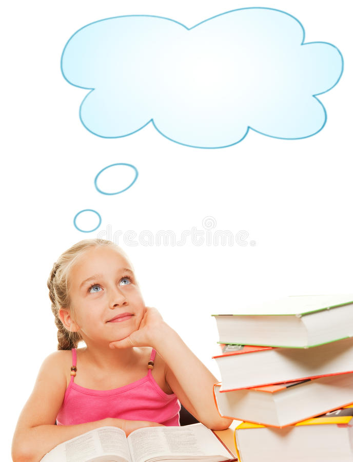 Download Dreaming schoolgirl stock photo. Image of literature - 10253406