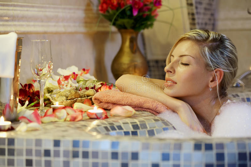 Download Dreaming in spa stock photo. Image of bathe, bathhouse - 24183070