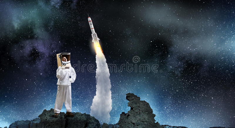 Dreaming to explore space royalty free stock photo