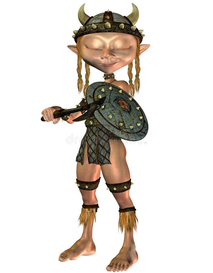 Dreaming Viking girls stock illustration
