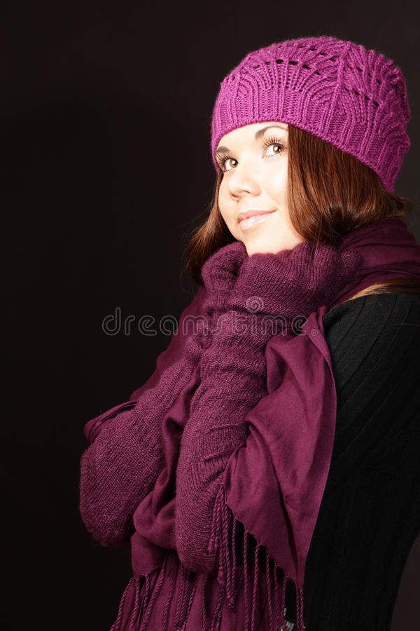 Download Dreaming young woman stock photo. Image of brunette, people - 17552120
