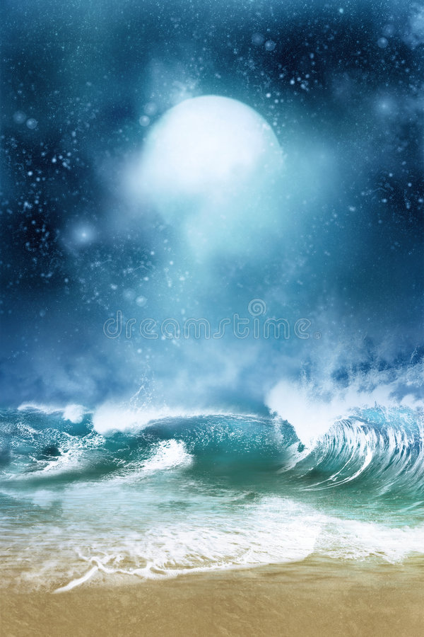 Download Dreamland stock illustration. Illustration of ocean, beautiful - 7978559