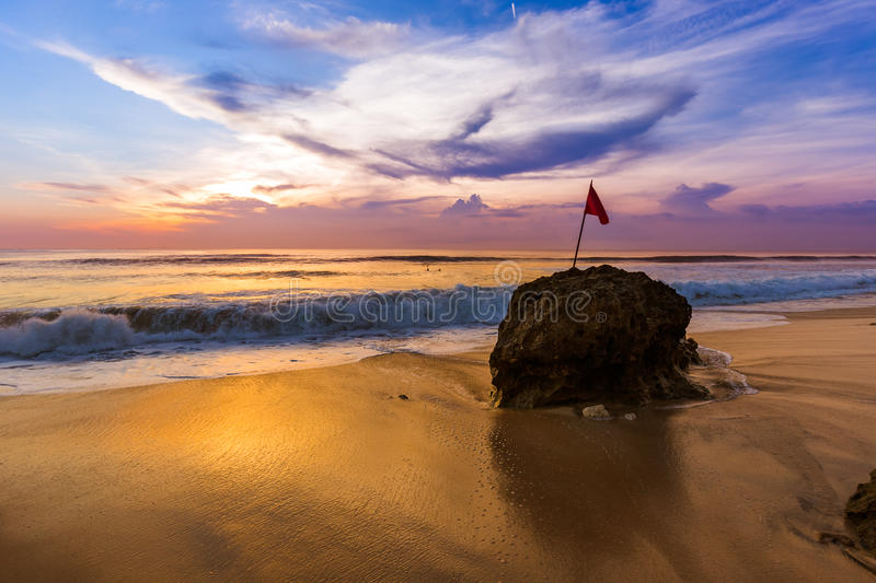 Dreamland Beach in Bali Indonesia stock images