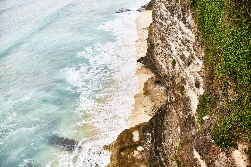Dreamland beach. View from Uluwatu cliff. royalty free stock photography