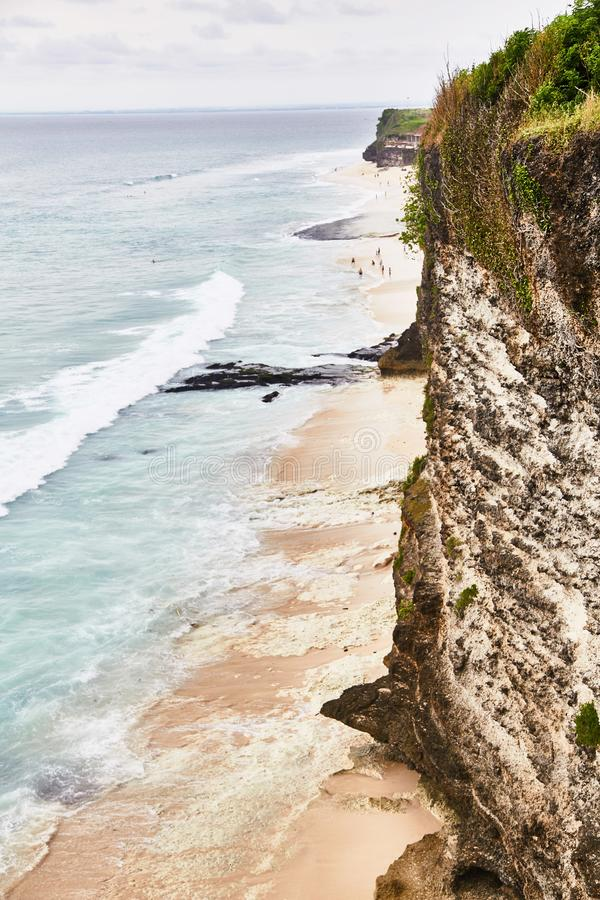 Dreamland beach. View from Uluwatu cliff. royalty free stock image