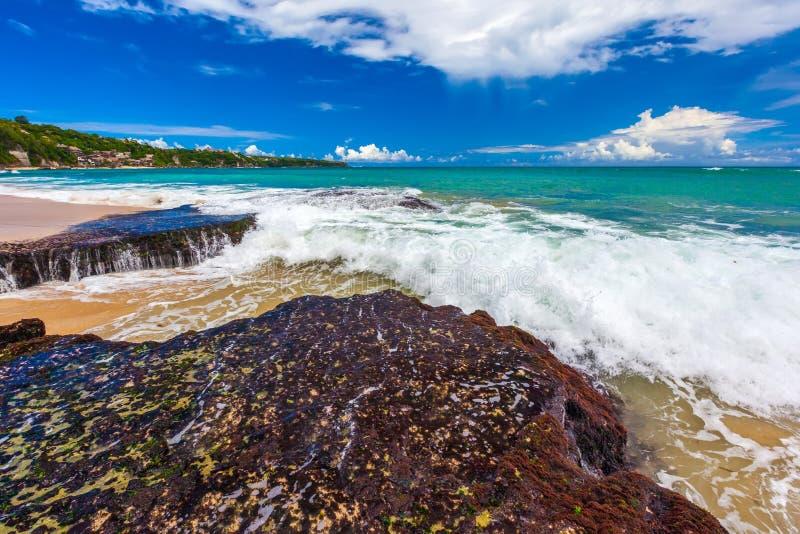 Dreamland Nowy, Południowy Kuta Plażowy, Bali, Indonezja zdjęcia stock