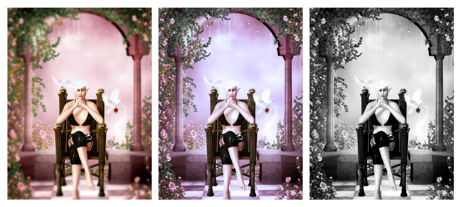 Dreamland's queen royalty free illustration