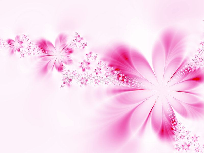 Dreamlike flowers stock illustration
