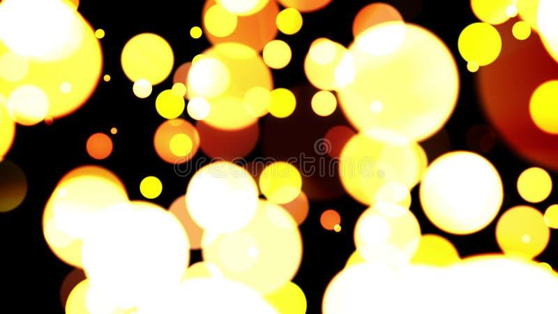 Dreamlike Gele Ballen royalty-vrije illustratie