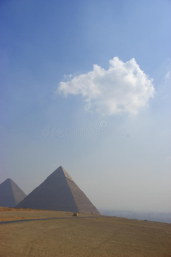 Dreamlike Scene of the Great Pyramid at Giza stock photo